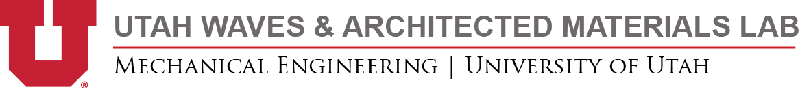 Utah Waves & Architected Materials Logo